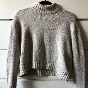 Slightly Cropped Mock Neck Sweater